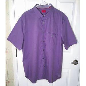 Alfani Purple Button Down Shirt Size XL